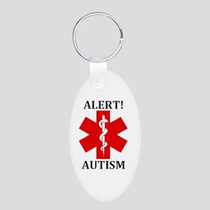 Autism Medical Alert Aluminum Oval Keychain