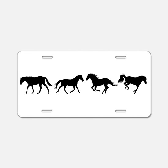 Unique Ponies Aluminum License Plate