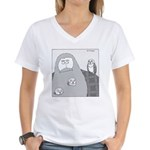Barn Owls (No Text) Women's V-Neck T-Shirt