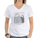 Barn Owls Women's V-Neck T-Shirt
