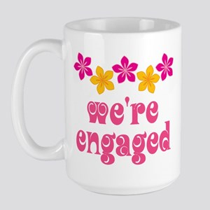 Tropical Engagement Announcement Large Mug