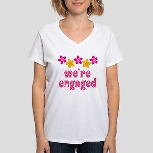 Tropical Engagement Announcement Women's V-Neck T-