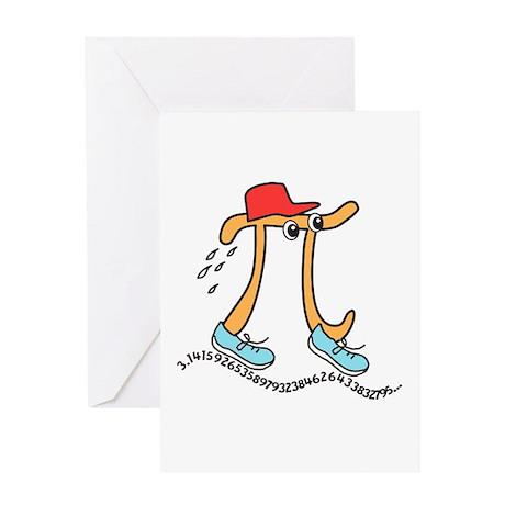 Funny Long Running Pi Greeting Card