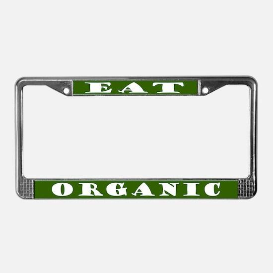 Eat Organic License Plate Frame