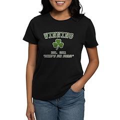 Winning Irish Charlie Sheen Women's Dark T-Shirt