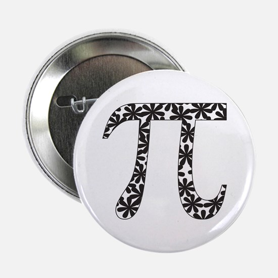 "Floral Pi 2.25"" Button"