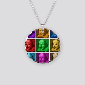 Shakespeare Pop Art Necklace Circle Charm