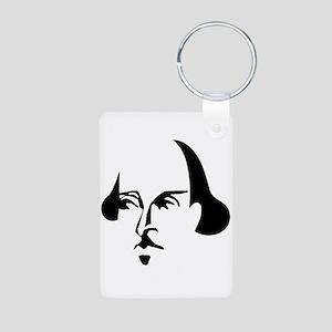 Simple Shakespeare Aluminum Photo Keychain