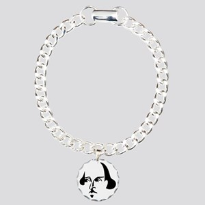 Simple Shakespeare Charm Bracelet, One Charm
