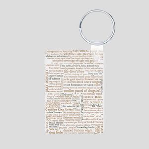 Shakespeare Insults Aluminum Photo Keychain