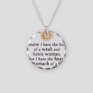 Elizabeth Tilbury Quote Necklace Circle Charm