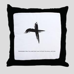 """""""Ash Wednesday"""" Throw Pillow"""