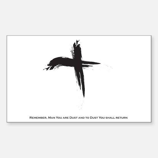 """Ash Wednesday"" Sticker (Rectangle)"