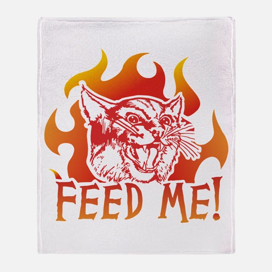 Hungry Cat Throw Blanket