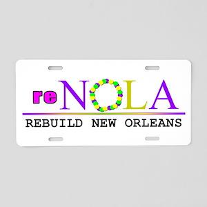 re-NOLA . Rebuild New Orleans Aluminum License Pla