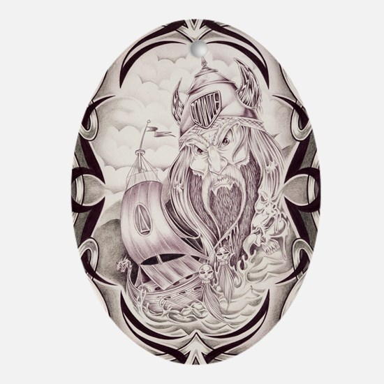 Viking Donnie Oval Ornament