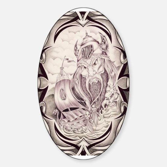 Viking Donnie Oval Decal