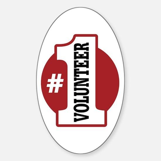 #1 Volunteer Sticker (Oval)