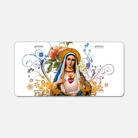 Immaculate Heart of Mary Aluminum License Plate