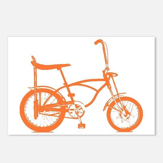 Retro Orange Banana Seat Bike Postcards (Package o