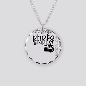 Photographer Necklace Circle Charm