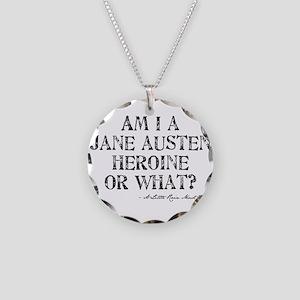 Jane Austen Quote Necklace Circle Charm