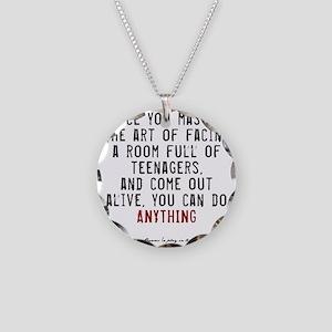 Teacher Quote Necklace Circle Charm