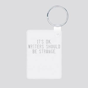 Writers Quote Aluminum Photo Keychain