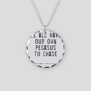 Pegasus Quote Necklace Circle Charm