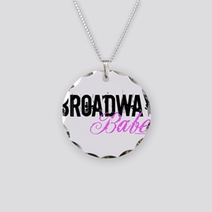 Broadway Babe Necklace Circle Charm