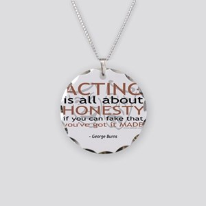 George Burns Acting Quote Necklace Circle Charm