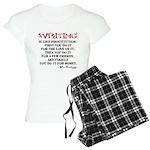 Moliere Writing Quote Women's Light Pajamas