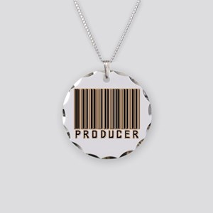 Producer Barcode Necklace Circle Charm