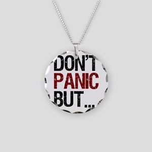 Don't Panic Necklace Circle Charm