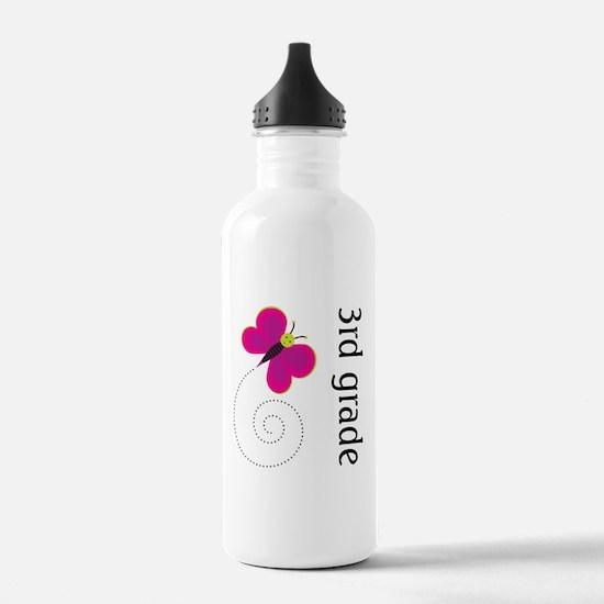 Bright Butterfly Third Grade Water Bottle