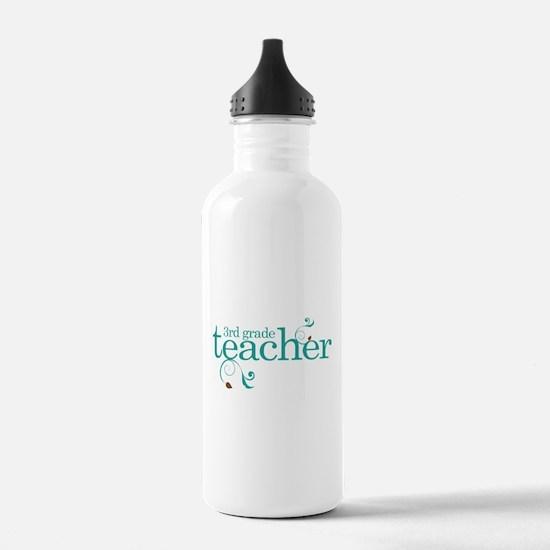 3rd Grade Teacher Swirl Water Bottle