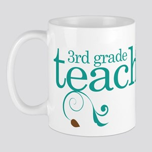 3rd Grade Teacher Swirl Mug