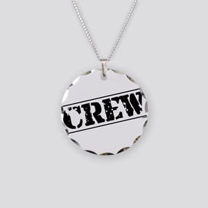 Crew Stamp Necklace Circle Charm