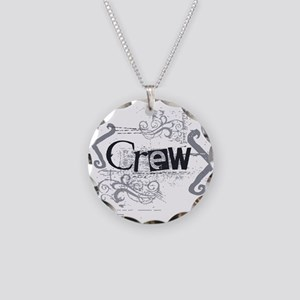 Grunge Crew Necklace Circle Charm