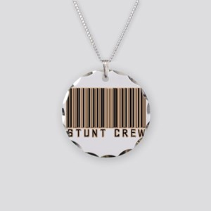 Stunt Crew Barcode Necklace Circle Charm