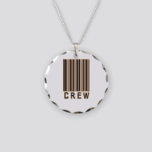 Crew Barcode Necklace Circle Charm
