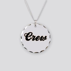 Crew Baseball Necklace Circle Charm