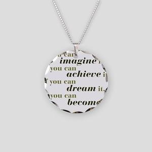 Imagine Achieve Necklace Circle Charm