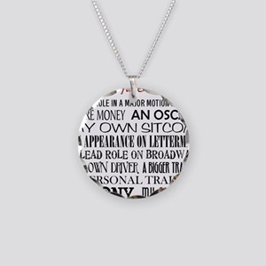 All I Want ... Necklace Circle Charm