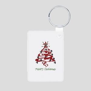 Actors' Christmas Tree Aluminum Photo Keychain