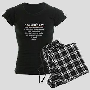 New Year's Day Women's Dark Pajamas