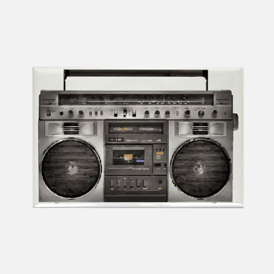 Boombox Rectangle Magnet