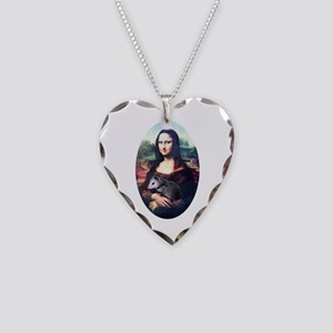 Mona Lisa Possum Necklace Heart Charm