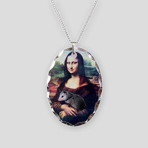 Mona Lisa Possum Necklace Oval Charm