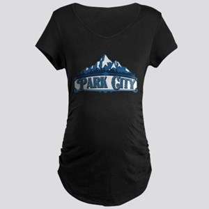 Park City Blue Mountain Maternity Dark T-Shirt
